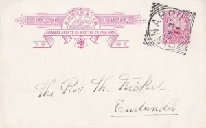 APS174) Australia ACSC P23 Rose red 1d KGV. Used by full clear strike of Pinaroo
