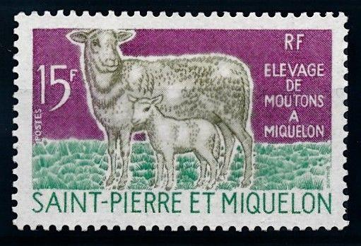 [65578] St. Pierre and Miquelon 1970 Sheep with Lamb From Set MLH