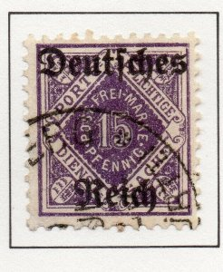 Germany 1920 Early Issue Fine Used 15pf. Optd NW-100743