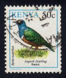 Kenya #594 Superb Starling; Used at Wholesale