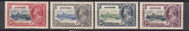 J26662 1935 ascension set mh #33-6 silver jubilee