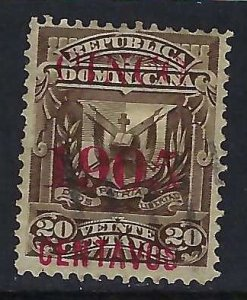 Dominican Republic 167 VFU T216