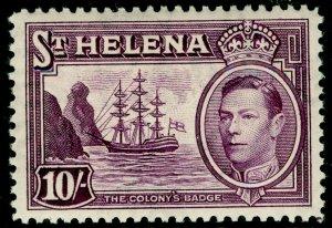 ST. HELENA SG140, 10s purple, VLH MINT. Cat £20.