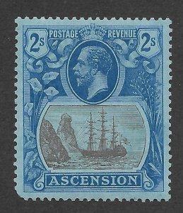 Doyle's_Stamps: MH 1924 British Ascension 2 Shilling KGV Scott  #20* XF, cv $75