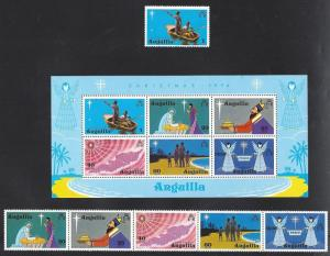Anguilla, 205-10a, Christmas 1974, **MNH**