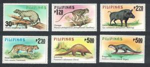 Philippines Wild Animals 6v SG#1515-1520 MI#1281-1286