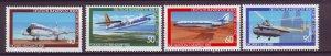 J24967 JLstamps 1980 germany berlin set mnh #9nb164-7 airplanes