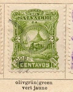 Salvador 1891 Early Issue Fine Used 2c. NW-11843