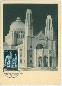 14680 - BELGIUM - POSTAL HISTORY -  MAXIMUM CARD   1952  ARCHITECTURE