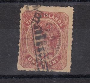 Turks Islands QV 1867 1d Dull Rose SG1 Fine Used J3430