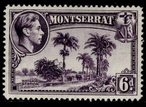 MONTSERRAT GVI SG107a, 6d violet, VLH MINT.