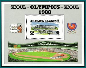 Solomon Islands 1988 Olympic Games, MS MNH #626,SGMS635