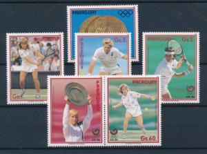 [55502] Paraguay 1988 Olympic games Seoul Tennis Graf Becker MNH