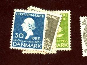 DENMARK #246-51 MINT VF OG VLH Cat $47