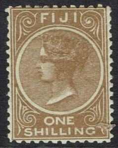 FIJI 1881 QV 1/- PERF 11 X 11.75