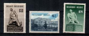 Belgium Scott B495-7 Mint hinged (Catalog Value $68.00)