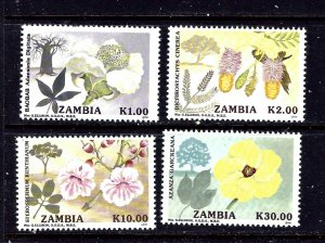 Zambia 557-60 MNH 1991 Flowering Trees