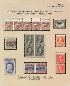 Kelleher: Sale # 611  -  United States Proofs, Stamps, Co...