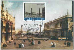72665 - ITALY - Postal History - FDC MAXIMUM CARD -  ART  VENEZIA 1973