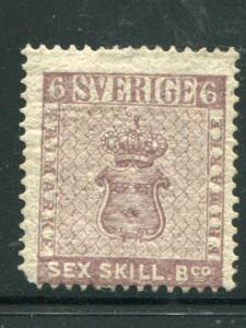 Sweden #3 Mint  Fine  HICV   -  Lakeshore Philatelics