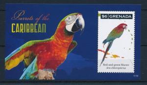 [31732] Grenada 2011 Birds Vögel Oiseaux Ucelli  Parrots MNH Sheet