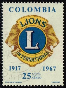 Colombia #C492 Lions Emblem; Used (4Stars)