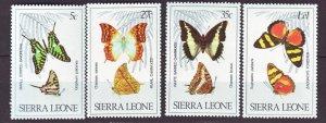 J22193 Jlstamps 1980 sierra leone set mnh #487-90 butterflies