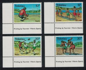 Tokelau Local Sports 4v Bottom Left Corners SG#69-72 SC#69-72