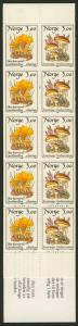 Norway 889a Booklet MNH Mushrooms