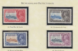 BECHUANALAND PROTECTORATE, 1935 Silver Jubilee set of 4, heavy hinged.
