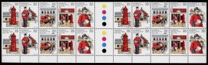 Australia 755b Gutter Pair Block MNH Mail Delivery, Van, Postman