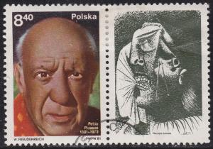 Poland 2432 USED - 1981 Pablo Picasso - Label: A Crying Lady