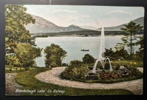 1906 Glendalough Lake Co Galway Ireland Real Picture Postcard Cover