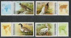 $Burkina Faso Sc#1087-1090 M/NH/VF, complete set, Birds, Cv. $20.75