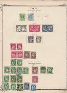 norway early stamps  on album page ref r11430
