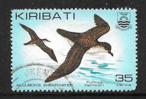 Kiribati 394: 35c Audubon's Shearwater (Puffinus lherminieri), used, VF
