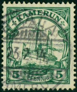 Germany 1914 Kamerun Camerouns Mi21  Wmk Yacht 75359