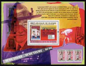 Guinea - Conakry 2009 Stamp on Stamp - Scouts perf m/shee...