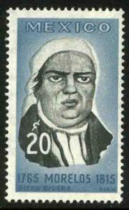 MEXICO 967, 20c Jose Maria Morelos Death 150th Anniv. MINT, NH. VF.