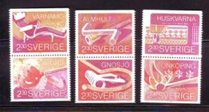 Sweden Sc1755-60 1989 Smaland Businesses stamp mint NH
