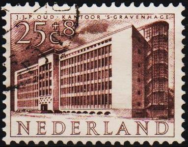 Netherlands. 1955 25c+8c S.G.814 Fine Used