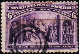 U.S.A. 1893 6c S.G.240 Fine Used