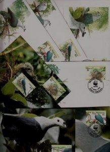 Tokelau 8 covers/cards WWF-95/Birds