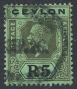 Ceylon  SG 356 Used   Die II  Sc# 243