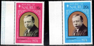 NAURU Scott 118-119 MNH** stamp set