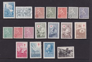 Finland a small mainly mint lot from 1950.s