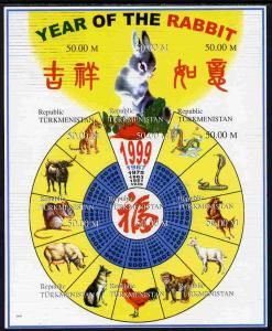 Turkmenistan 1998 Chinese New Year - Year of the Rabbit c...