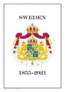 Sweden Sverige 1855-2021 PDF (DIGITAL)  STAMP ALBUM PAGES