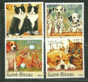 Guinea-Bissau MNH Set Cats & Dogs 2003