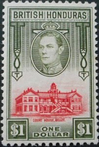 British Honduras 1938 GVI One Dollar SG 159 mint
